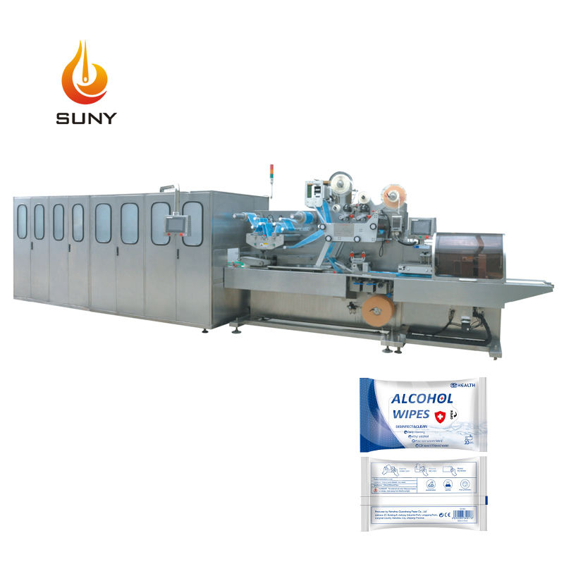 Wipe Machine 120 Pcs/bag Fully Automatic Wet Wipes Tissues Production Machine Line