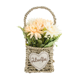 Mothers day gift Wholesale long stem Wedding decoration artificial flower Valentine's day gift straw basket for home decor