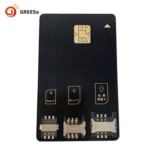 mobile phone programmable SIM card adapter used to NANO MICRO MINI SIM 3 in 1