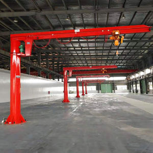 Light duty Hoist Pillar Mounted JIB Crane 1 ton 2ton 3ton workshop widely used lifting equipment