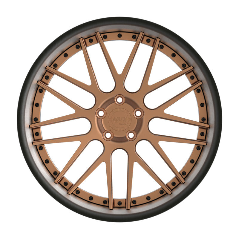 2021 special design brushed black and matte bronze 20 inch 5x112 aluminium alloy forged wheel rims