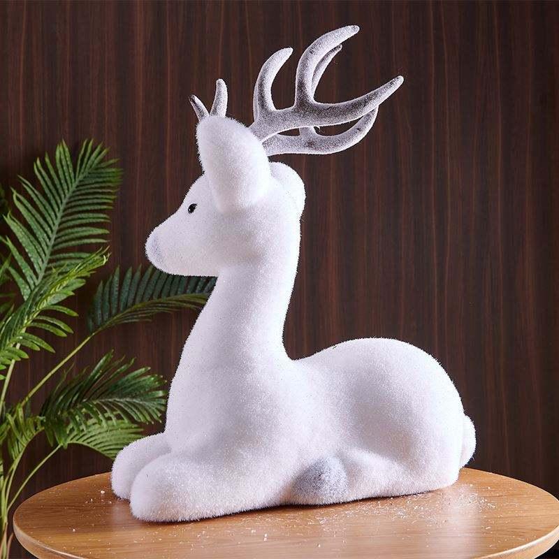 Venta al por mayor de la fábrica fiesta suministros de plástico blanco pequeño ciervo decoraciones de la boda