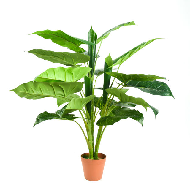 Hot Sale Wholesale Large Outdoor Artificial Ficus Bonsai Tree Eucalyptus Fake Plant In Pot For Decoration