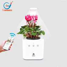 Smart home garden planter, Self watering smart mini plant pot, LED growing system and Remote system all control by mobile APP