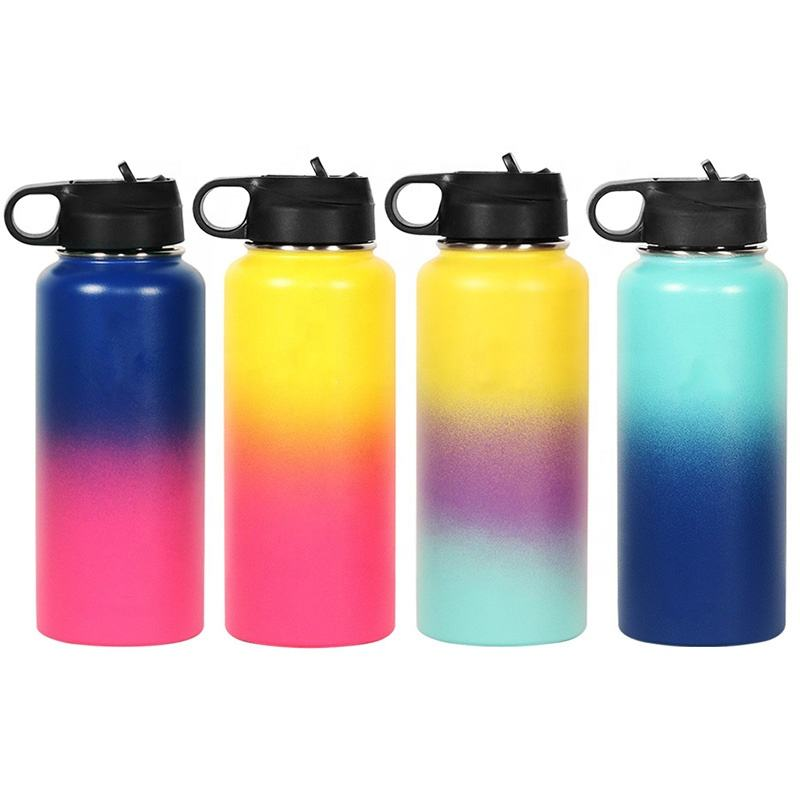 18オンス/32オンス/40オンスHydro Vacuum水ボトルInsulated Flask Stainless Steel Water Bottle Wide MouthとSport/Straw/Flex