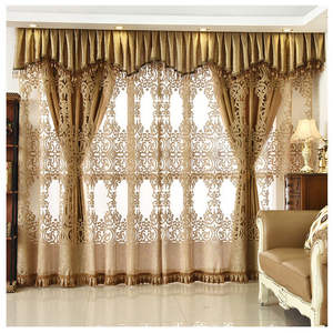 Cortinas Luxuosas Para Sala E Quarto, European Style Bedroom Home Curtain With Valance Designs/