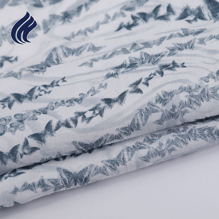 Chinese factory popular oem soft ladies tops custom fabric printing rayon