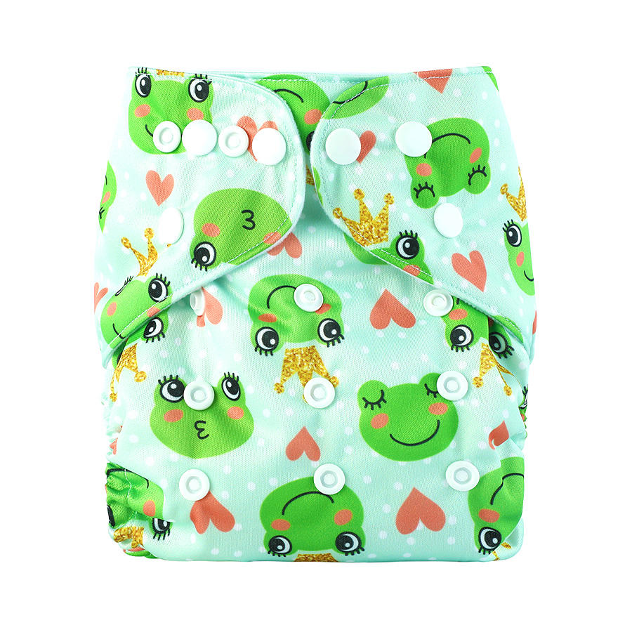 Baby Reusable Pocket Nappies Bamboo Double Gusset Cloth Diapers Absorbent Changing Pad With Inserts