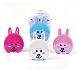 2020 new face washing instrument electric face cleansing instrument pore cleaner silicone brush face rabbit beauty instrument