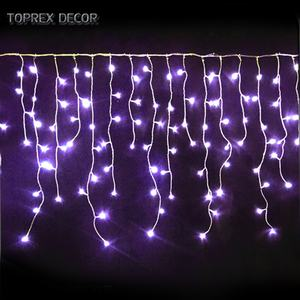 TOPREX DECOR commercial rain drop christmas ornaments led curtain icicle light