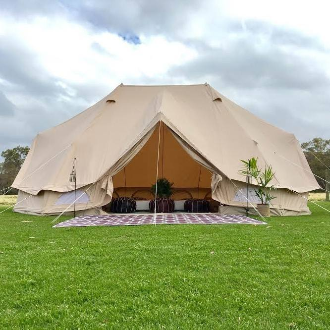 waterproof Emperor Bell Tent for a wedding or party