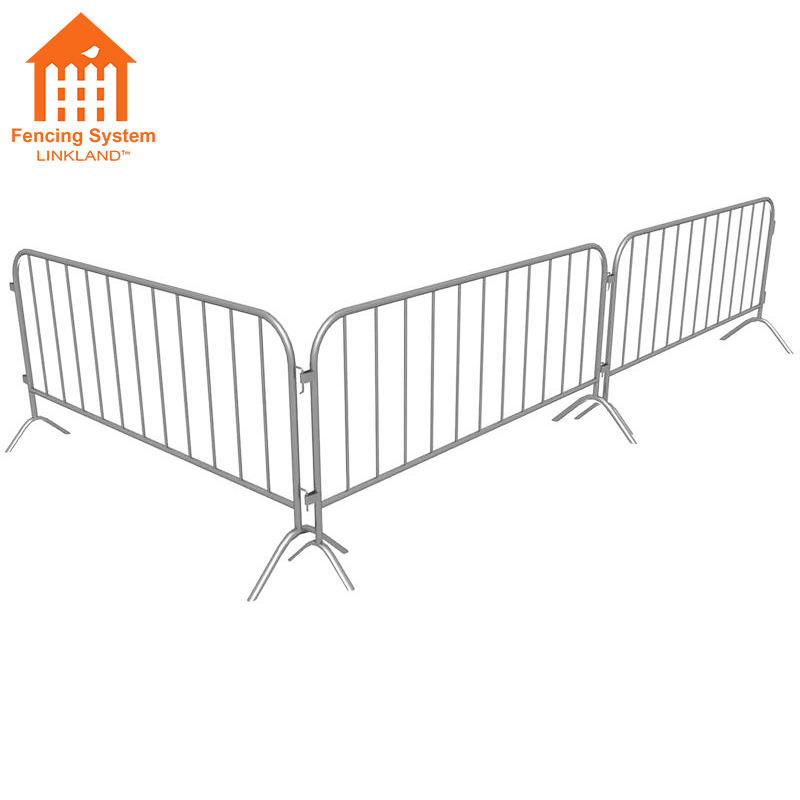 crowd control barrier for bike rack fence