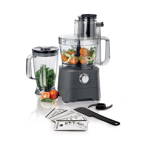 1000W Multi-function Food Processor with Drawer - 3.5L Mixing Bowl & 1.8L Blender Jug - 2 Speed Settings & Pulse