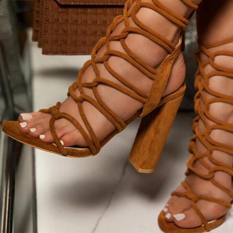 Newest design sandal women hollow sexy high heels spot sandals for women