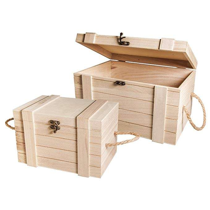 Wholesale Pine Plywood Crate Wood Packaging Gift Boxes With Hinge