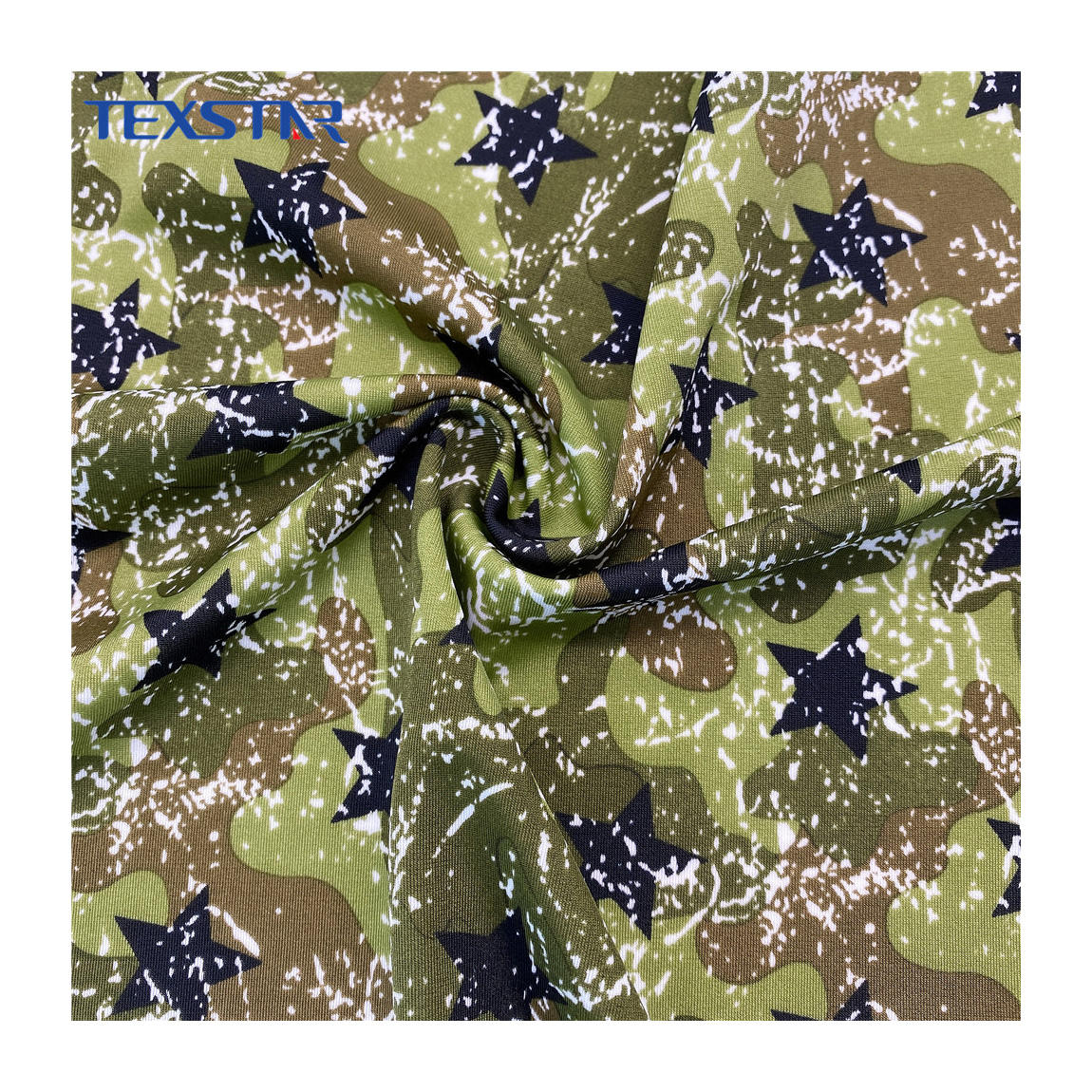 Custom Polyester Spandex Camouflage Printed Fabric for T-shirt