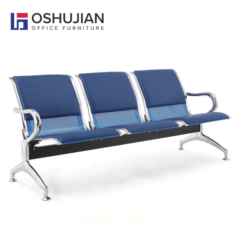 Factory direct airport waiting room 3 4 seater PU seats airport chair