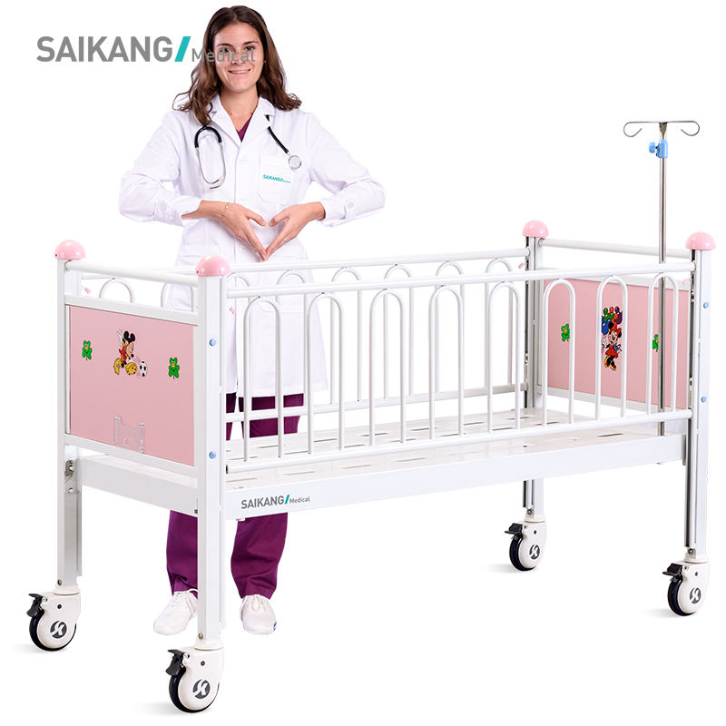 CR0q Saikang BV Factory Durable Hospital Children Hospital Beds With Casters