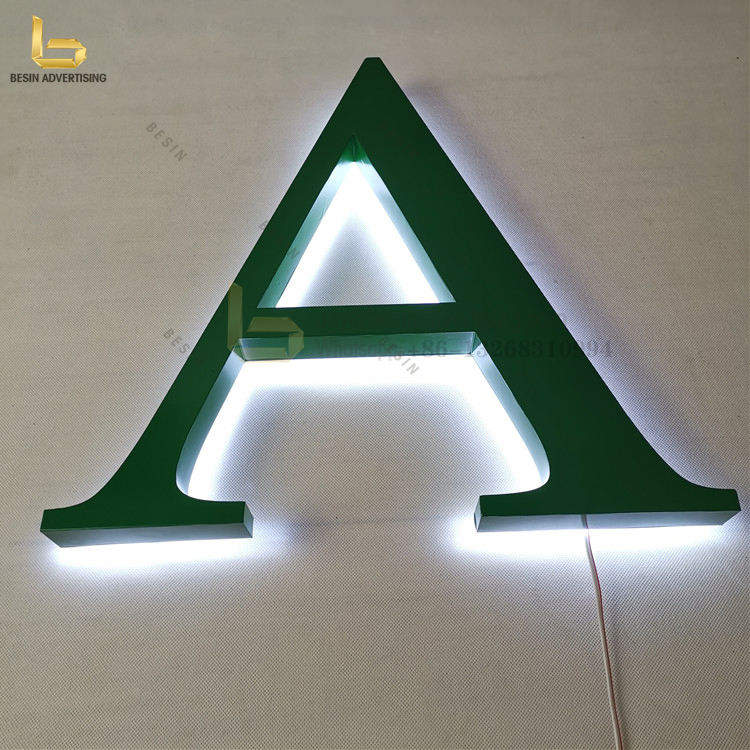 Excellent quality moisture-proof sign making led backlit letter for retail store