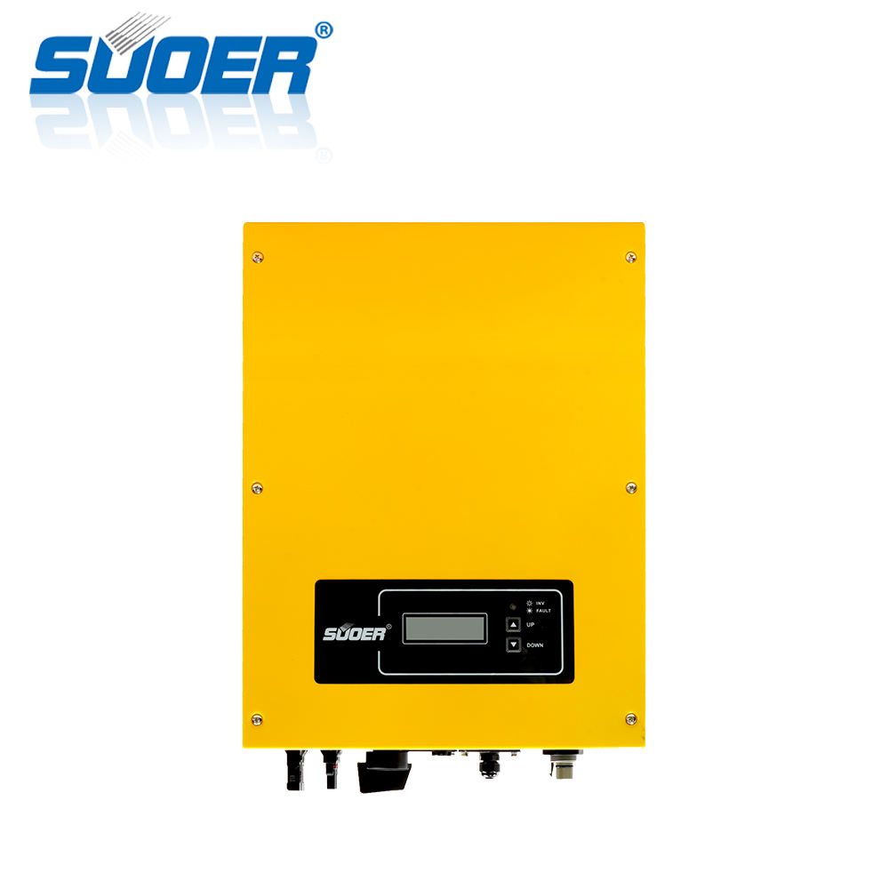 Suoer China manufacturer on Grid Tie Solar Power 5Kw on grid solar system 5000W Inverter
