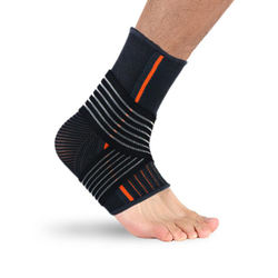 Breathable Twist Tie Up Basketball Ankle Support Brace with Adjustable Straps
