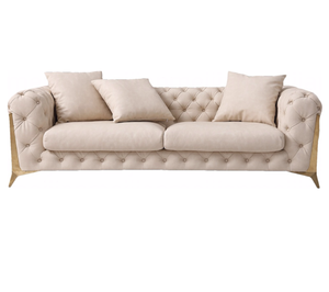 YASITE Hot Sale Customized Modern Light Luxury Chesterfield Sofa Set Furniture For Living Room