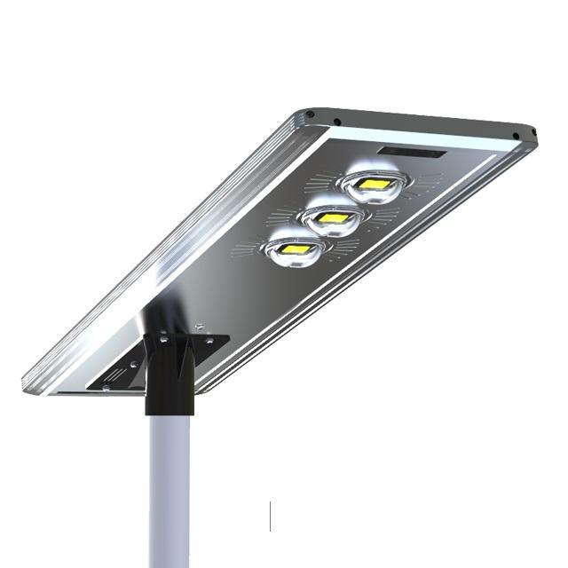 Energy saving Bridgelux chip ip65 waterproof outdoor 100W 150W PIR Motion Sensor integrated solar led street light
