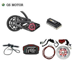 QS motor 138 3000W 72V 100KPH Mid drive motor power train kits with motor controller for electric motorcycle motorbike