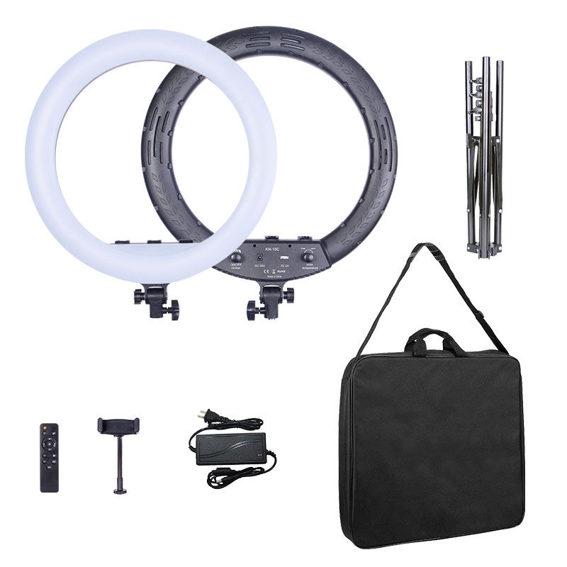 18inch LED ring light remote control fill light for video and live streaming 46cm with 6feet tripod