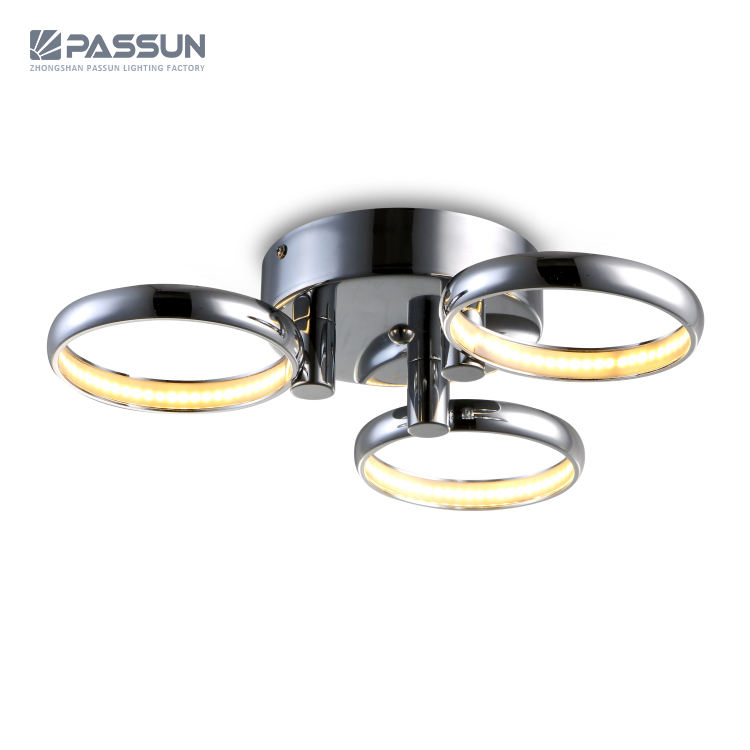 European design triple ring led chandelier 3x6w led ceiling surface light