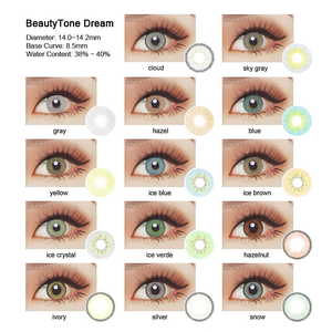 fresh 1 2 3 tone color contact lenses super natural cosmetic color lenses