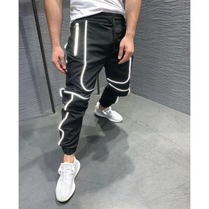 2020 custom new sports pants night running reflective trousers fitness basketball jogging jogger pants