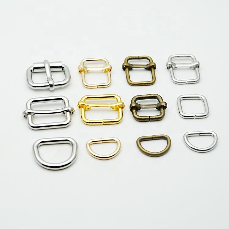 Manufactures Metal Buckles 12 Years Factory Wholesale Shiny Silver Metal Pin Buckle Hardware Adjustable Pin Buckles