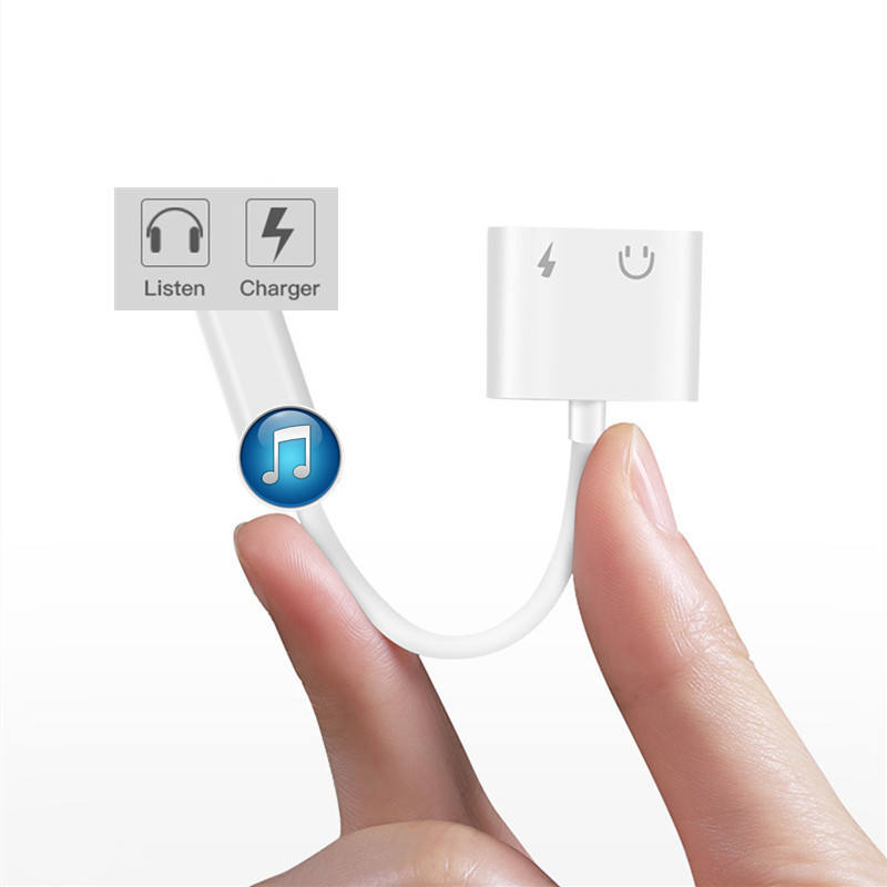 Für iPhone Adapter 2 in 1 Für Apple iPhone XS MAX XR X 7 8 Plus IOS 12 3,5mm Jack kopfhörer Adapter Aux Kabel Splitter