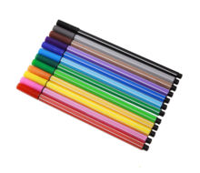 Promotional gift pens 12 colour watercolour pen set school  office use art marker colour fine line pen