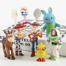 DIHAO Toy Story 4 Buzz Light Year Woody Jessie Bullseye Forky Figure Doll Collectible Model Action Figure Toy Kid Gifts