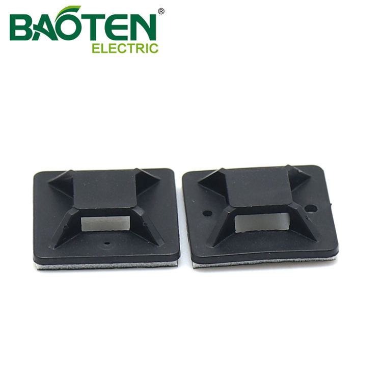 BAOTENG BT high quality plastic Cable Tie Mounting Base flange nylon Tie Mounts