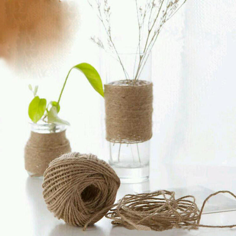 3.5mm DIY Crafts Natural Jute Twine Hemp String Brown Burlap Rope Rustic Jute Twine String for packaging and decoration