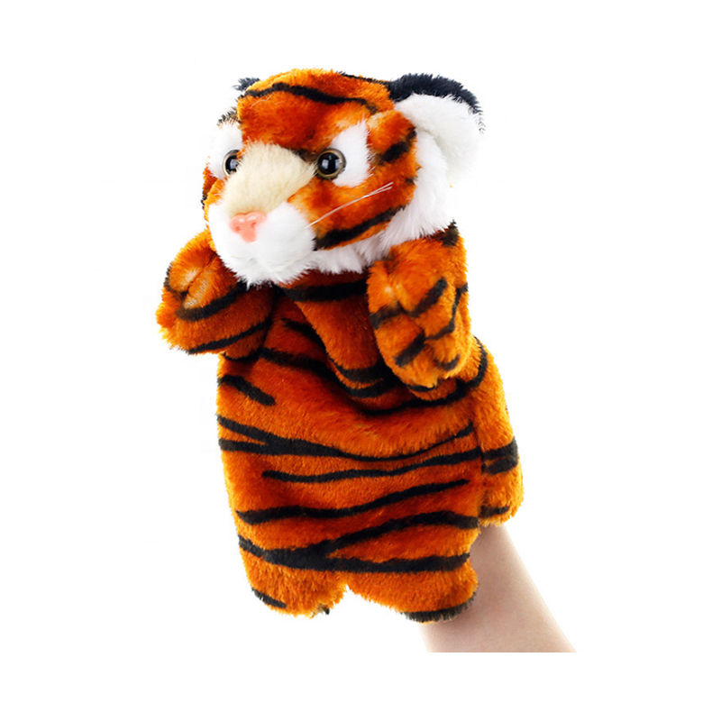 Tiger Hand Puppets Plush Animal Toys for Imaginative Pretend Play Stocking Storytelling