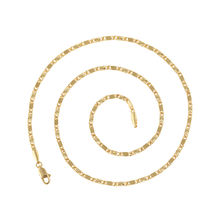 N1 Xuping hot sale design thin flat chain 24k gold color plated copper material link chain necklace