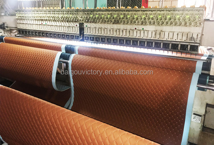 Car Floor Mat Roll 1.8M Width Embroidery Quilted Diamond Stitching PVC Leather Car Floor Mat Roll