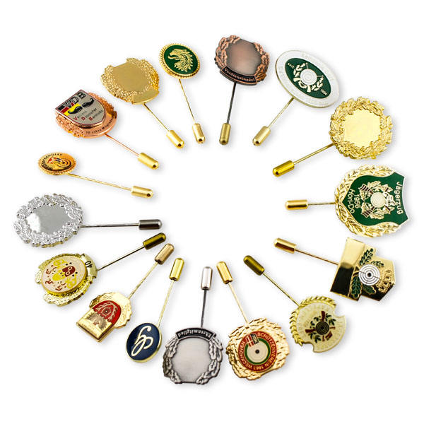 Fabrikant Directe Verkoop custom lange decoratieve push broche naald badge revers pin
