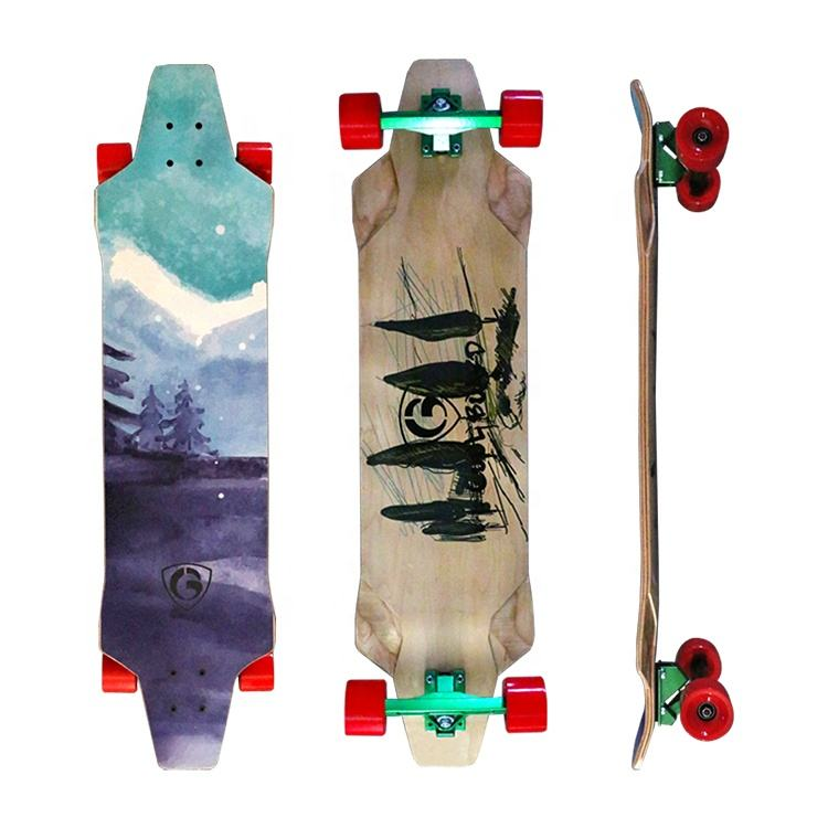 Cheap Canadian Maple Skateboard Deck 7 Ply Complete Longboard For Sale