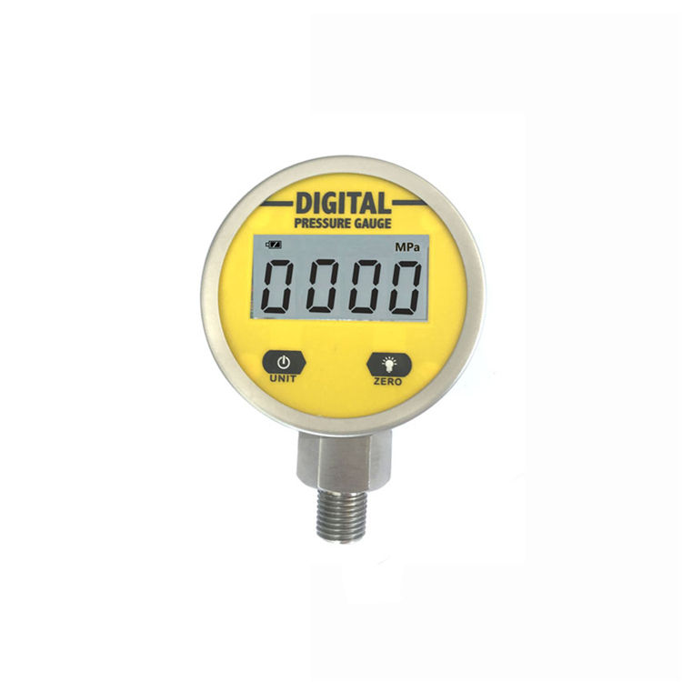 0-250 Bar 65mm Metal Case Digital Pressure Gauge for Water, Oil and Gas