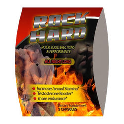 Totally Products Rock Hard Male Enhancement  Libido Blister 2 Capsules Highly Recommended and Used