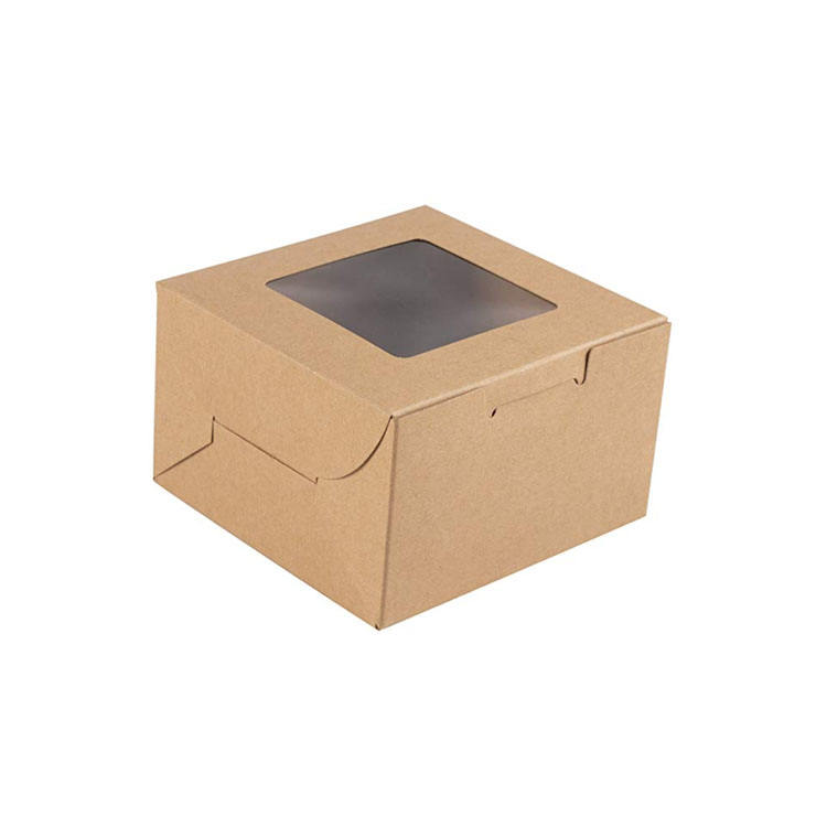 easy to Assemble Cake Boxes Brown Bakery Boxes with Window