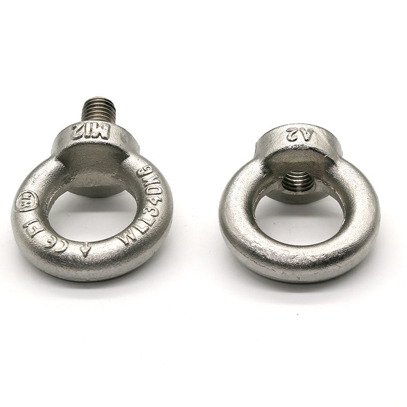 m3 m6 full thread ring lifting stainless steel eye bolt