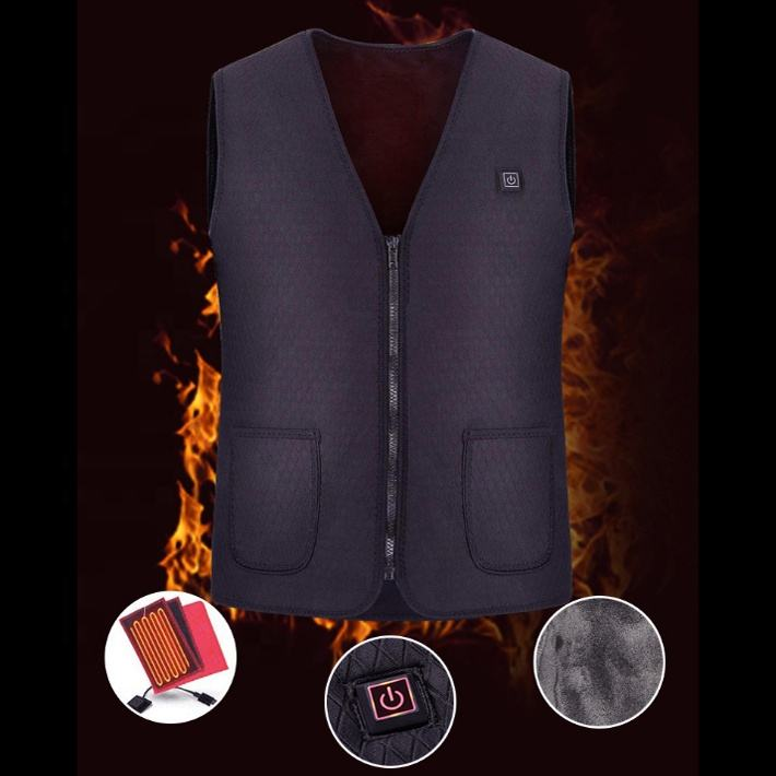 USB 5V Heated winter Warm neoprene Vest electric Charging Heating Coat Jacket Vest With Three-Speed adjust OEM