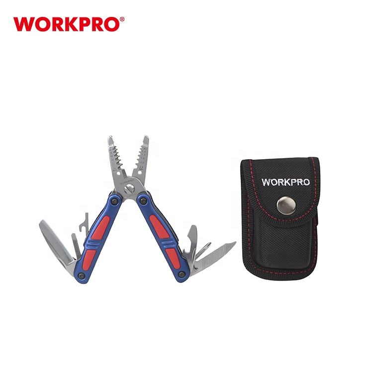 "WORKPRO W091009 5"" 130mm Medium Electrician's Multi-Tool With Pouch"