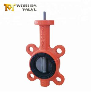 Cast iron hand lever wafer type butterfly valve high quality cost-effective